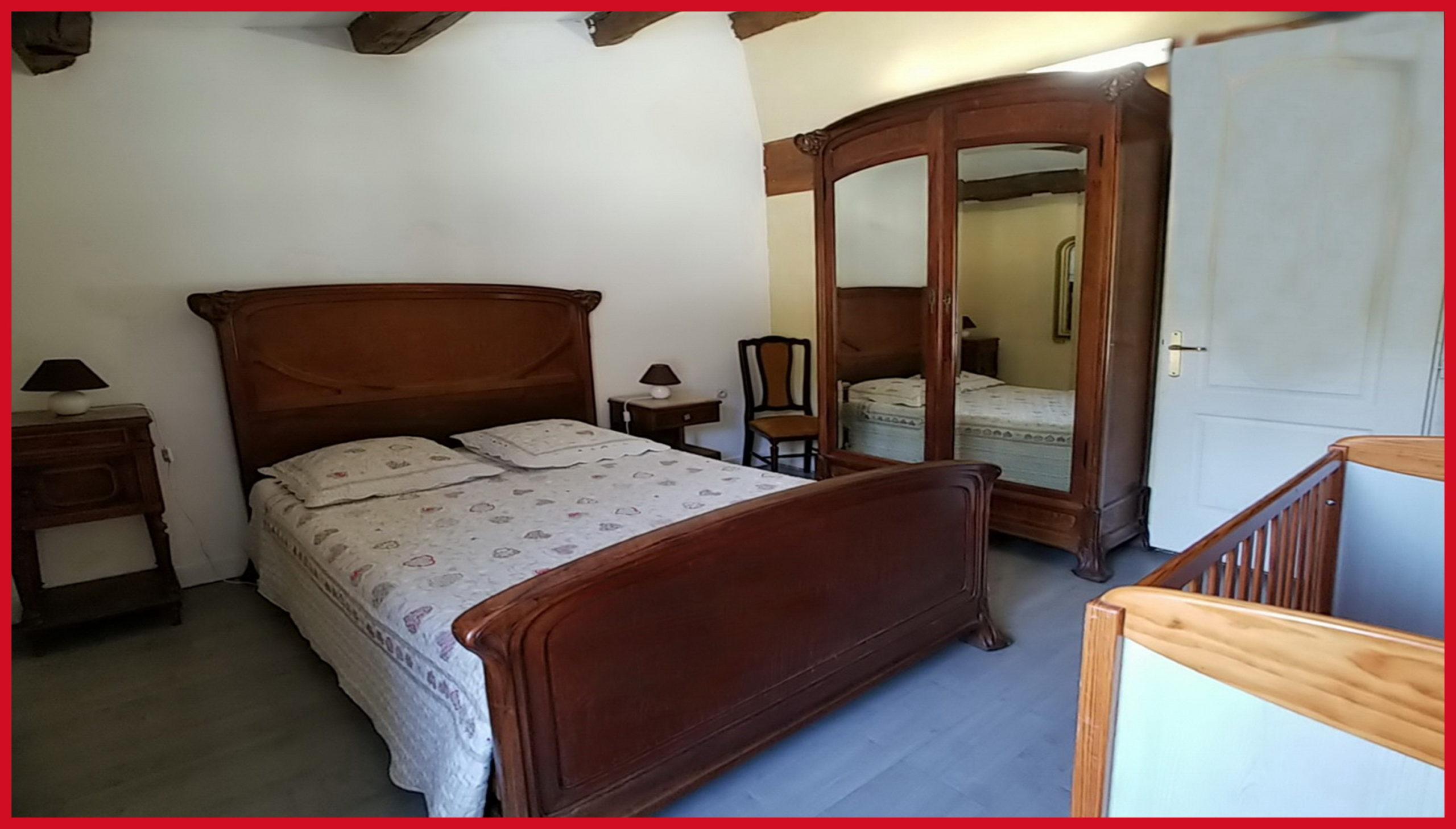 (25) Chambre 2 Gite de la Meunière (lit 140x190)